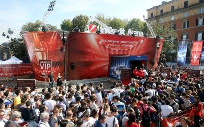 Technikpartner der UEFA Champions League Trophy Tour presented by UniCredit