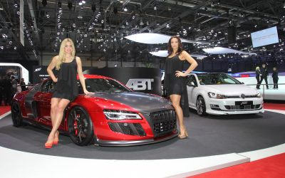 dlp motive für ABT Sportsline beim 83. Internationalen Auto-Salon Genf