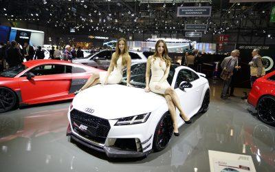 dlp motive für ABT Sportsline beim 87. Internationalen Auto-Salon in Genf